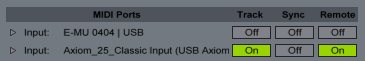 Remote Input On