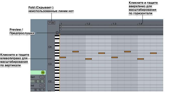 Midi Note Editor