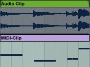 Audio Clip Midi Clip