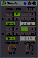 Simple Sync Delay Time