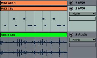 Midi and Audio Clip