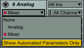 Show Autoamted Parameters Only