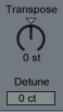 Transpose and Detune