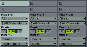 MIDI to Reason