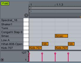 Impulse in Piano Roll