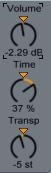Volume, Time, Pan