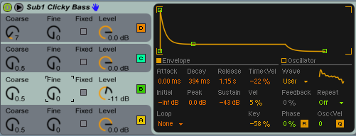 Operator Sub 1 Clicky Bass