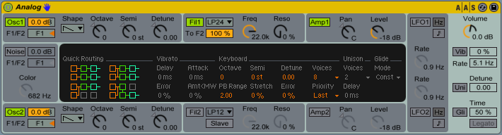 Ableton Analog View