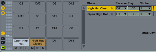 Hi-Hat Chokes Drum Rack