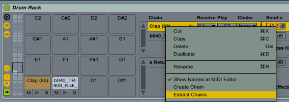 Drum Rack Extract Chains