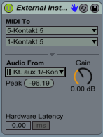 External Instrument Kontakt Use