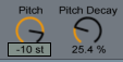 Beat Repeat Pitch and Pitch Decay