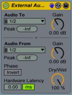 External Audio Effect View